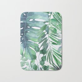 Tropical  Leaves Bath Mat