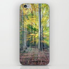 Abstract forest, intentionally blurred by zooming during exposure iPhone Skin