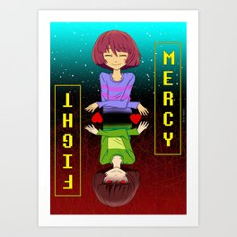 Undertale mercy or fight Art Print