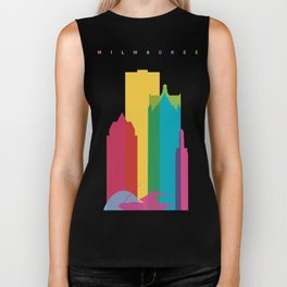 Shapes of Milwaukee. Accurate to scale Biker Tank