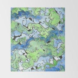 Pond Scum Throw Blanket