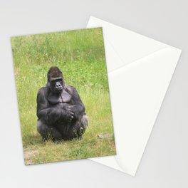 Gorilla Sitting Down Stationery Cards