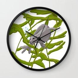 Seal with Seaweed Wall Clock