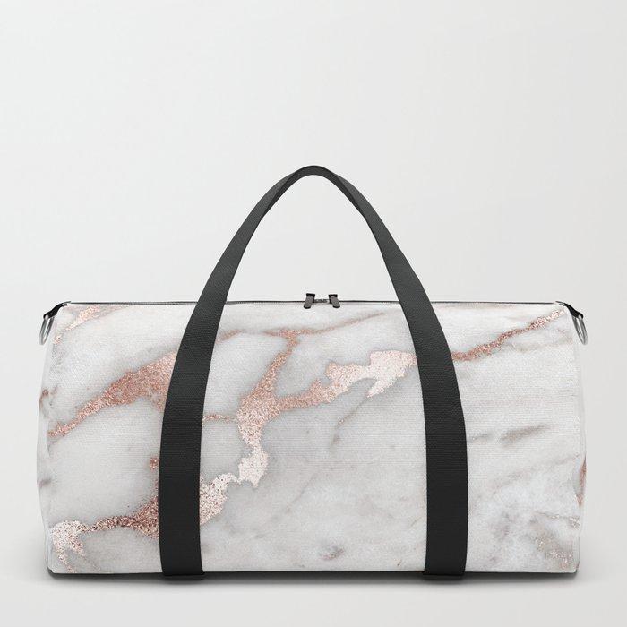 Rose Gold Marble Duffle Bag