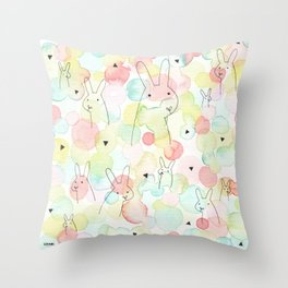 50 Shades Of Bunny Throw Pillow