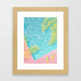 Tropical pool chill Framed Art Print