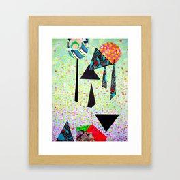 Ombre mixed media print Framed Art Print