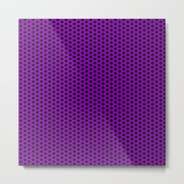 Purple Star Lattice Metal Print