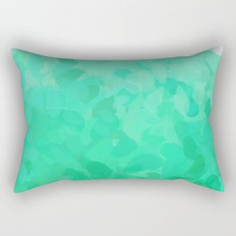 Floral Ombre (Turquoise) Rectangular Pillow