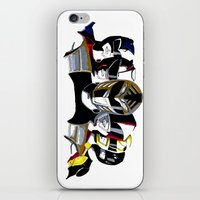 power rangers iPhone & iPod Skins featuring Power Rangers by SquidInkDesigns