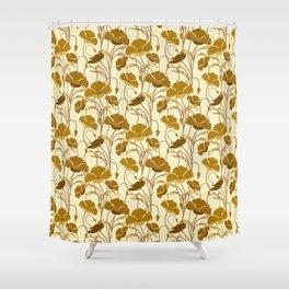 Sunfield Poppies Shower Curtain