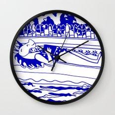 Pool Time Unicorn V2 Wall Clock