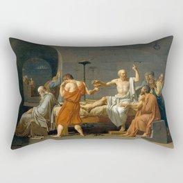 Jacques Louis David The Death of Socrates Rectangular Pillow