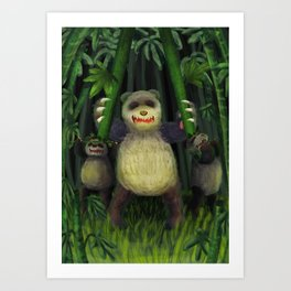 Bunch of pandas Art Print