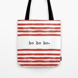 red stripes-ho ho ho Tote Bag