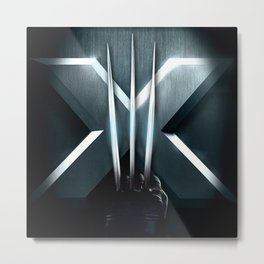 X-MEN THE MUTAN CLAW Metal Print