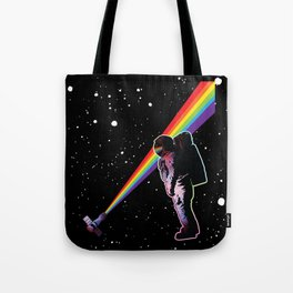 Rainbow Astronaut in Space  Tote Bag