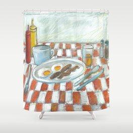 All American Breakfast 2 Shower Curtain