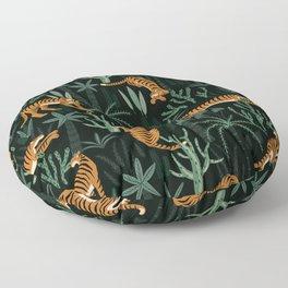 Evening Prowl, Tiger Prints Floor Pillow