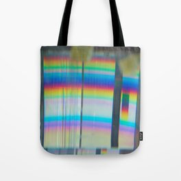 Abstract with rainbow Tote Bag