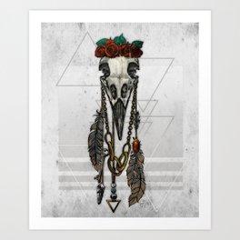 Bestial Crowns: The Crow Art Print