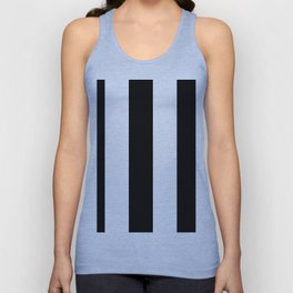 5th Avenue Stripe No. 2 in Black and White Onyx Unisex Tank Top