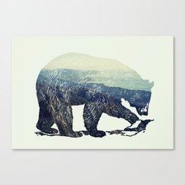 California Grizzly Bear Mountainscape Canvas Print