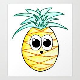 The Suprised Pineapple Art Print