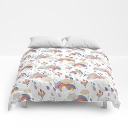 April Showers Golds and Blues Comforters