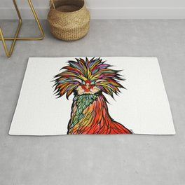 Josey Wales the Polish Rooster by RobiniArt Rug