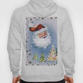 Santa Claus with christmas trees Hoody