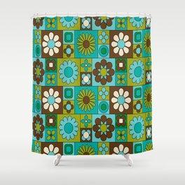 Flower power retro design Shower Curtain