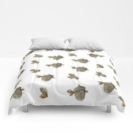 Fall acorn and oak leaves Comforters