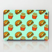 fries iPad Cases featuring Burgers & Fries by CozyReverie