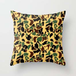 Frenchie Camouflage Throw Pillow