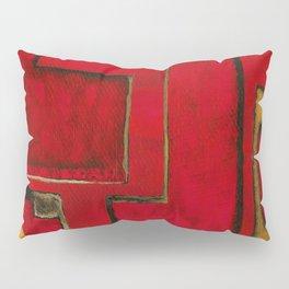 Detached, Abstract Shapes Art Pillow Sham