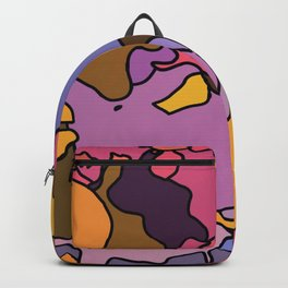 Abstraction in Gold,  Purple, and Pink Backpack