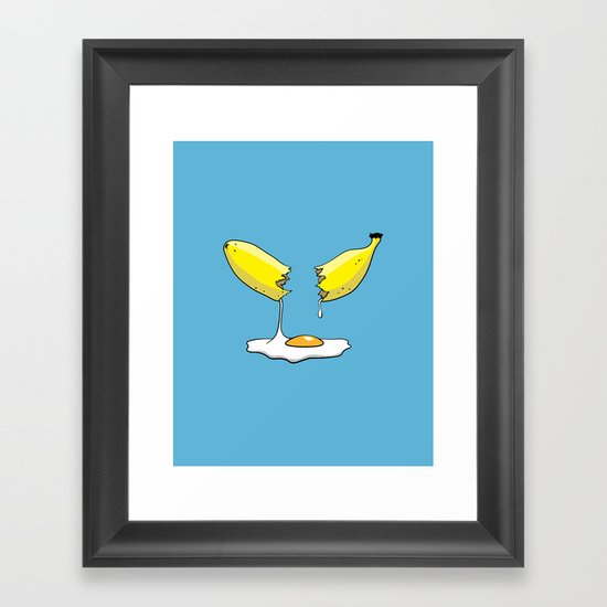 Banana Egg Framed Art Print