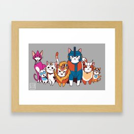 More than meets the cat! Framed Art Print