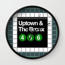 subway bronx sign Wall Clock