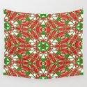Red, Green and White Kaleidoscope 3376 by celestesheffey