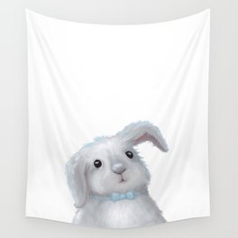 White Rabbit Boy isolated Wall Tapestry