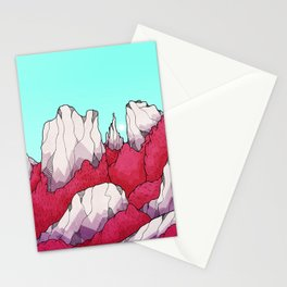 Red forest hills Stationery Cards