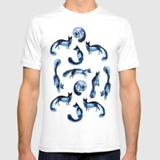 A pack of silver foxes. White SMALL Mens Fitted Tee