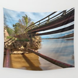 Dilapidated Lock Wall Tapestry