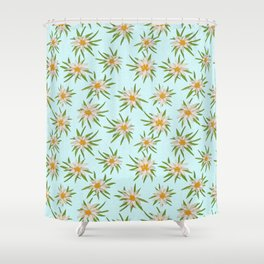 Edelweiss Pattern Shower Curtain