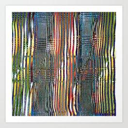 Combed Texture I Art Print