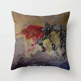 Chrome Knight Throw Pillow