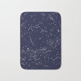 Constellation Map - Indigo Bath Mat