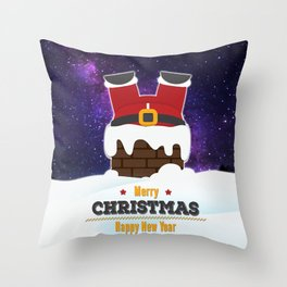 Journey of Santa Throw Pillow